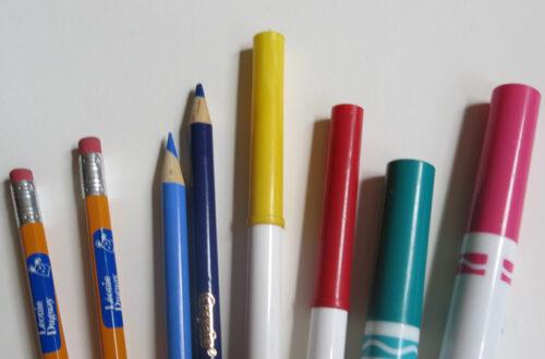 Étiquettes personnalisées pour les crayons