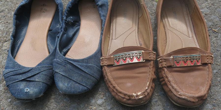 Vieilles chaussures usées