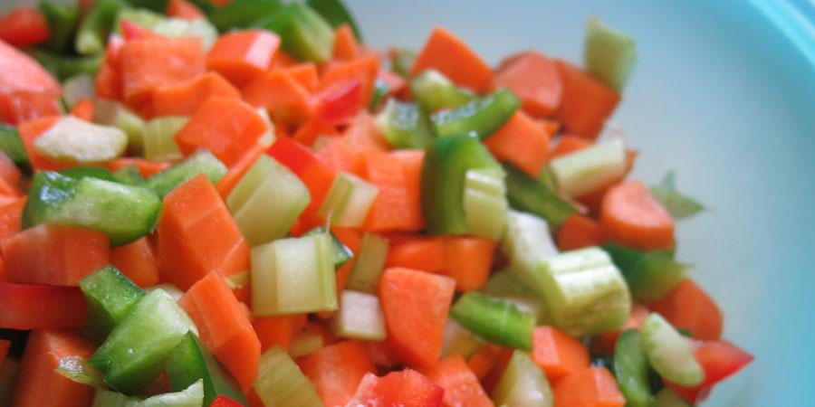 Légumes pour sauce à spaghetti