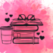 Pile de livres sur fond rose