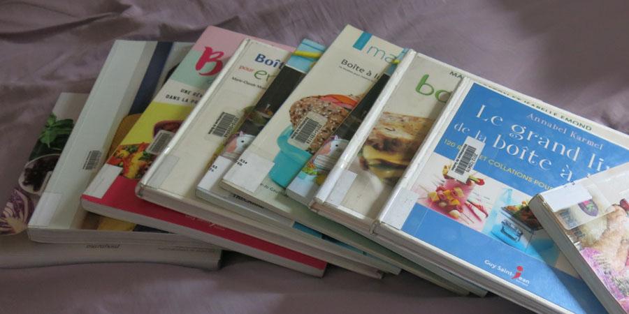 Livres de recettes pour les lunchs