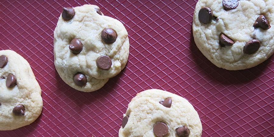 Biscuits aux pépites de chocolat prêts à déguster